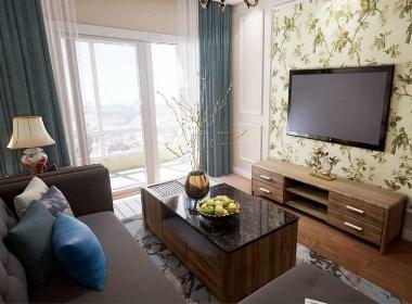 金地格林小城89平两室两厅现代简约装修效果图