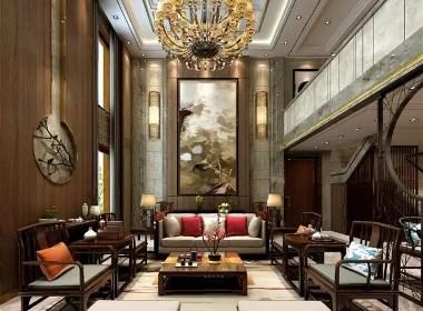 普罗旺世龙之梦300平新中式风格别墅大宅装修需要多少钱