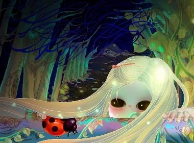 【盛夏的夜晚】   【原创】小女孩和昆虫