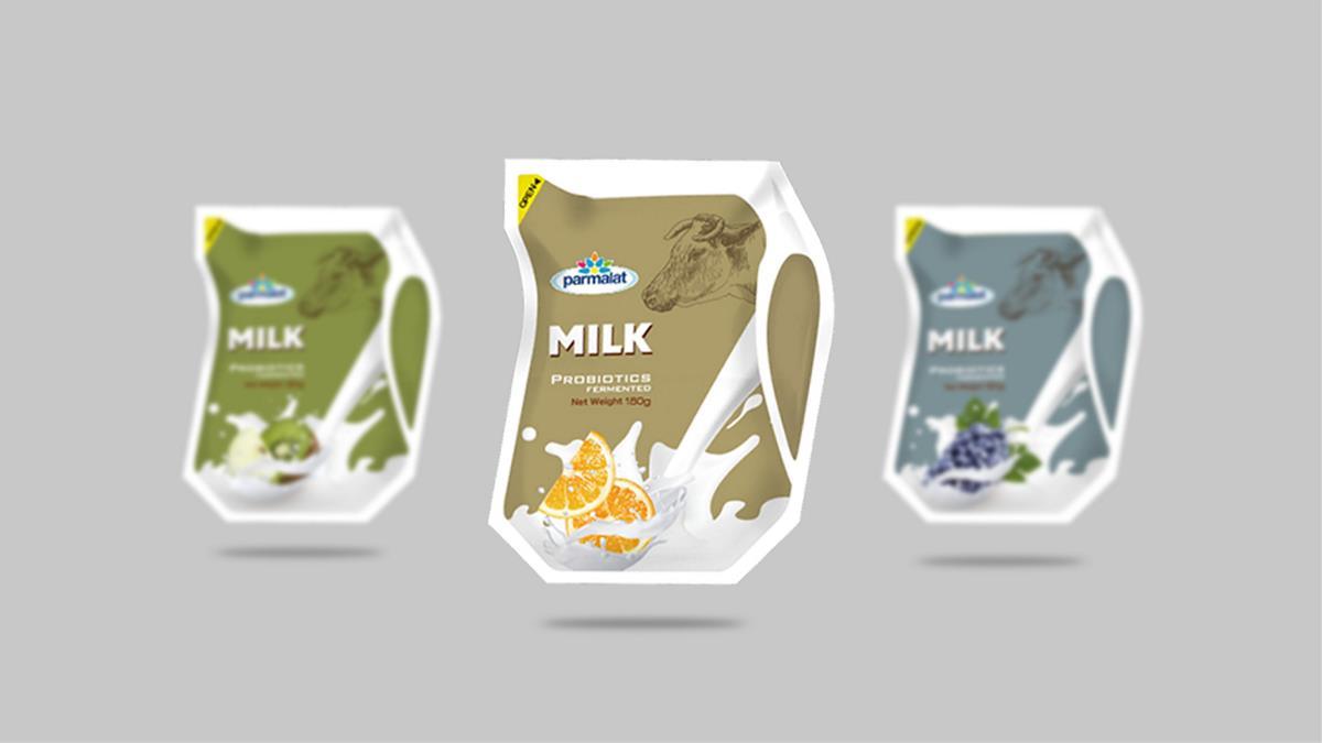 爱克林风味酸牛奶-系列包装设计 | 摩尼视觉原创