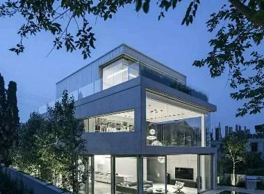 清水混凝土豪宅(材料:美岩木纹板)