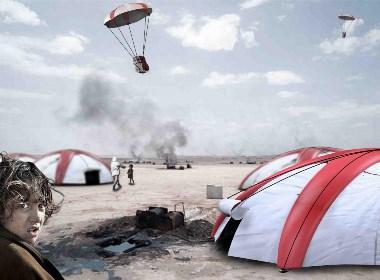 2016 德国红点概念奖 空投降落伞帐篷-Airborne tent