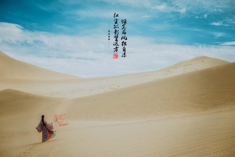 谁念西风独自凉,红尘孤影望远方