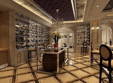 东润泰和别墅大宅470平欧式风格装修样板间欣赏