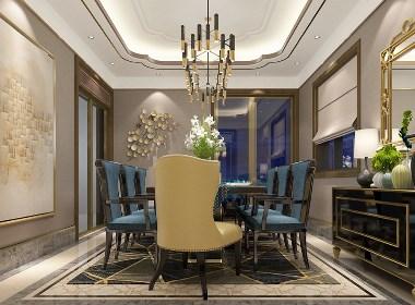东润泰和200平五室两厅欧式风格装修样板间欣赏