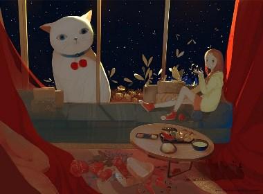白猫旅行插画欣赏