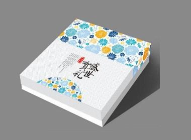 月饼盒的包装设计风格清丽