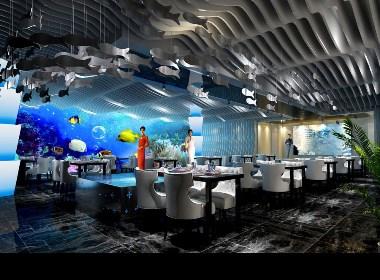 《三条鱼海鲜自助餐厅》成都海鲜自助餐厅设计|成都海鲜自助餐厅设计公司