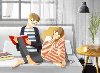 Love together系列插画欣赏