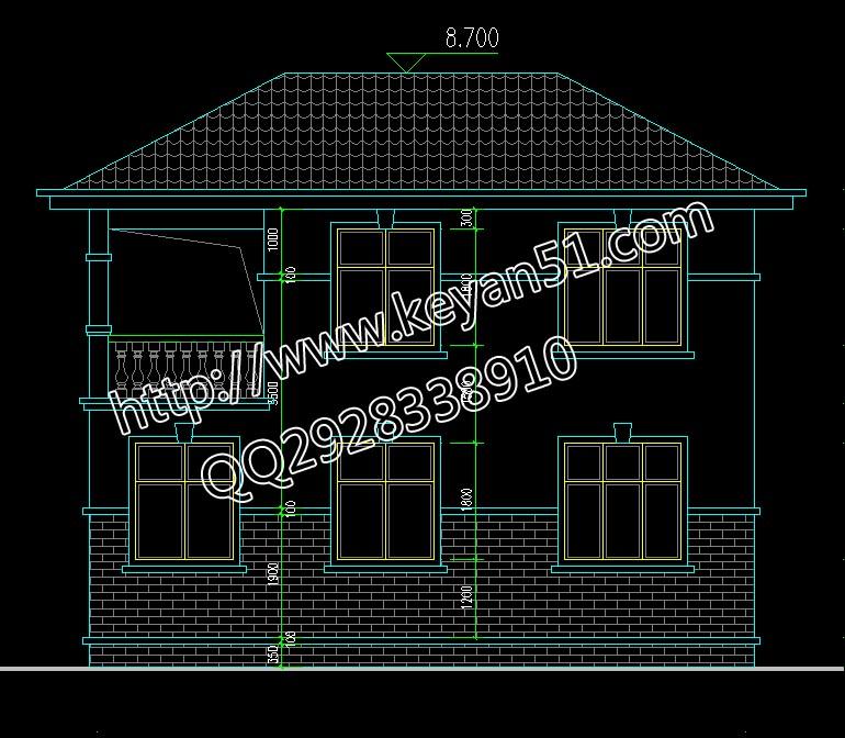 本套图纸有42张A3施工图和1张A4彩色效果图。 层数: 二层 结构形式: 砖混结构 主体造价: 15-20万 开间: 10米 进深: 10米 占地面积: 96平方米 总建筑面积: 175平方米 一 层: 厨房、餐厅、客厅、卫生间、主卧室、卧室 二 层: 过道、阳台、卫生间、主卧室、卧室、小卧室(带阳台) 跃层: 露台花园
