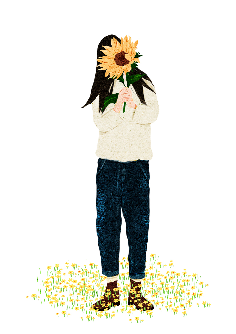 你的脚下开出一朵花—插画欣赏