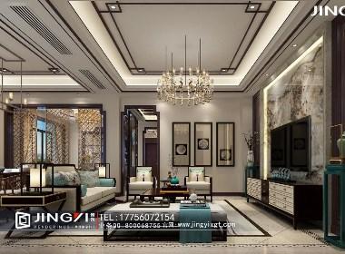 景逸效果图设计——家装新中式效果图