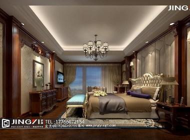 景逸效果图设计——家装美式卧室效果图