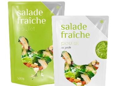 Salade Fraîche Plastic Packaging Design包装设计   摩尼视觉分享