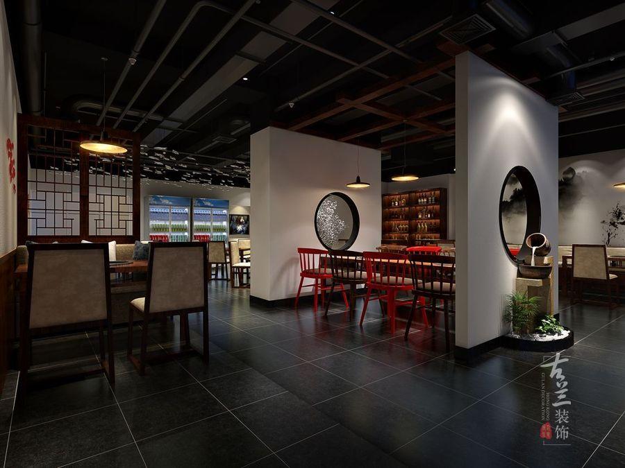 观鱼河鲜火锅店--中卫火锅店装修设计公司--古兰装饰