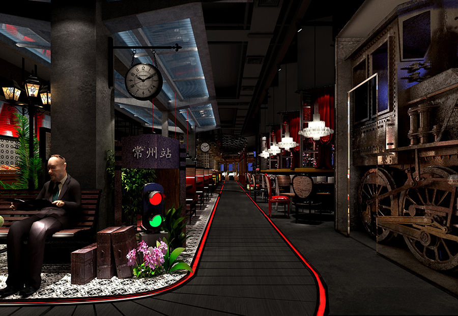 春天海鲜自助餐厅--石嘴山餐厅装修设计公司--古兰装饰