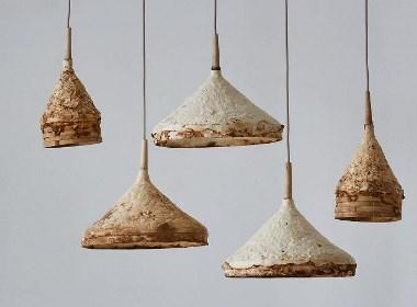 用蘑菇来制造的灯具