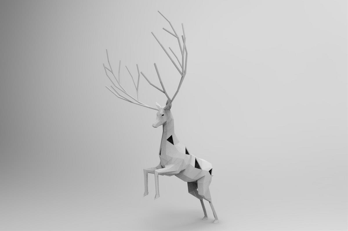 c4d模型 麋鹿