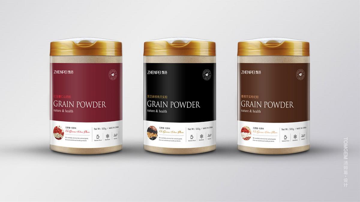 五谷粉包装设计/代餐粉/食品包装设计----汤姆葛品牌设计