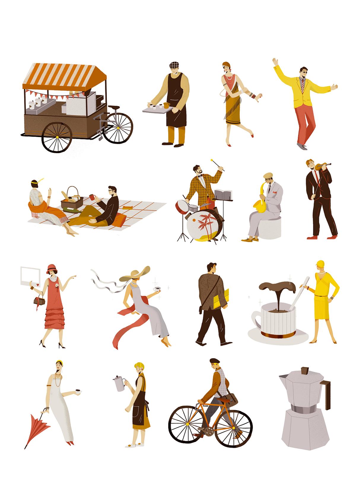 咖啡音乐节—插画欣赏