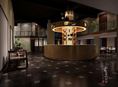 郫县茶楼设计-玉林茶楼装修设计公司-古兰装饰