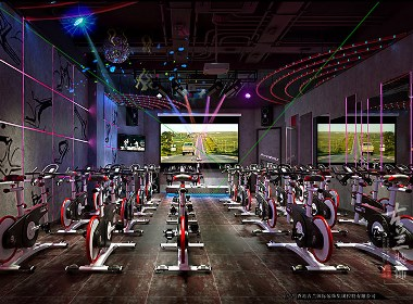 """POWER CYCLE""健身工作室--香格里拉健身房装修设计公司--古兰装饰"