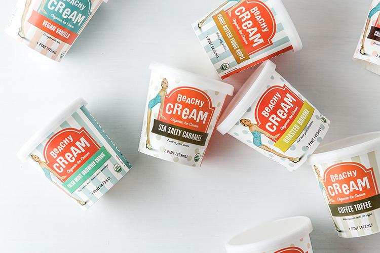 Beachy Cream Ice Cream Packaging品牌包装设计欣赏 | 摩尼视觉