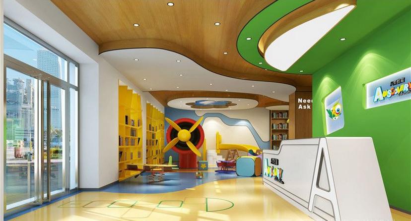 A索儿童国际早教中心-合作专业特色早教中心装修设计公司-古兰装饰