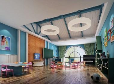 花园小镇时尚幼儿园-临夏专业特色幼儿园装修设计公司-古兰装饰
