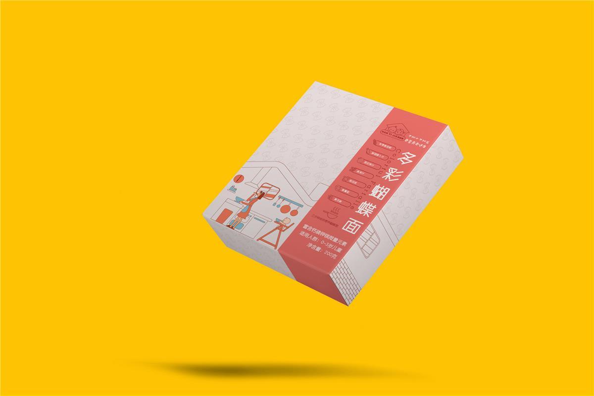 儿童卡通面条包装设计