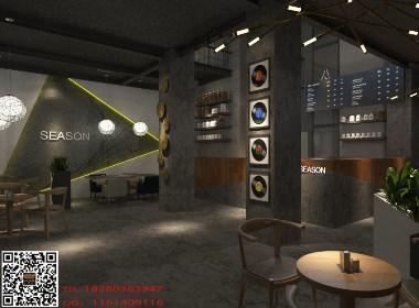 《season咖啡》成都特色咖啡厅装修设计|成都咖啡厅装修设计公司|古兰装饰--水泥原生态的装修风格