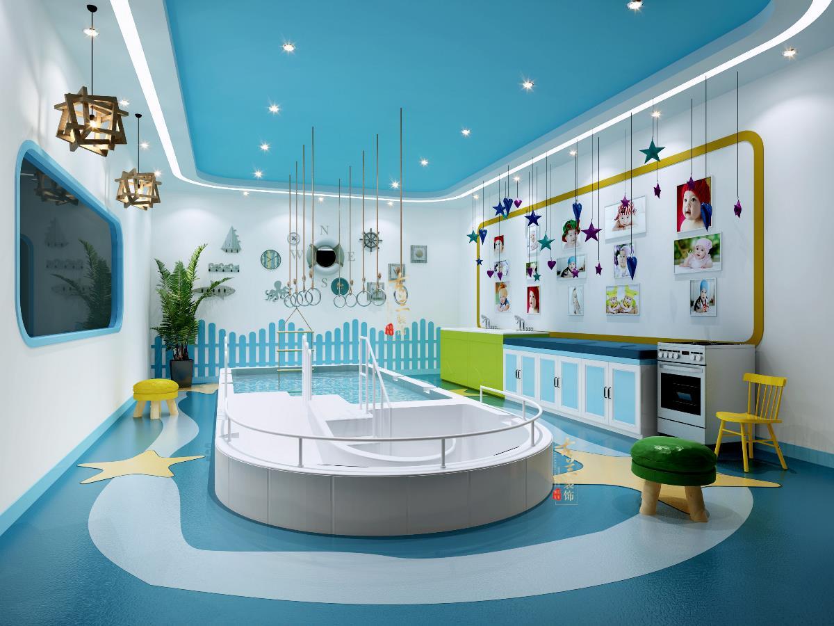 《鱼乐贝贝游泳馆》成都专业婴幼儿游泳馆装修设计 成都儿童游泳馆