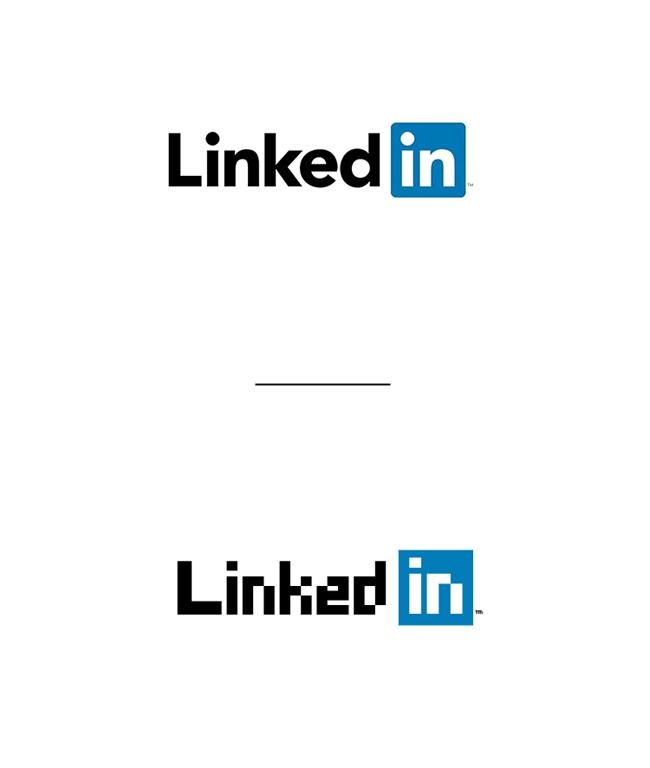 当国际大牌的Logo像素化之后