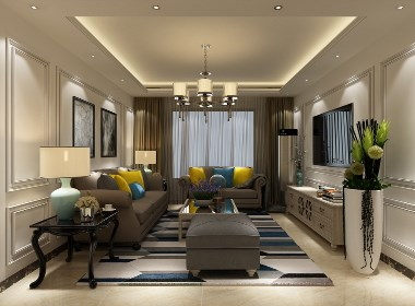 晒石家庄130㎡简约美式风,客厅原来可以这么装,后悔没早点看!