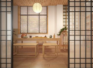 北欧日式原木风格住宅设计-前意识叶平设计作品