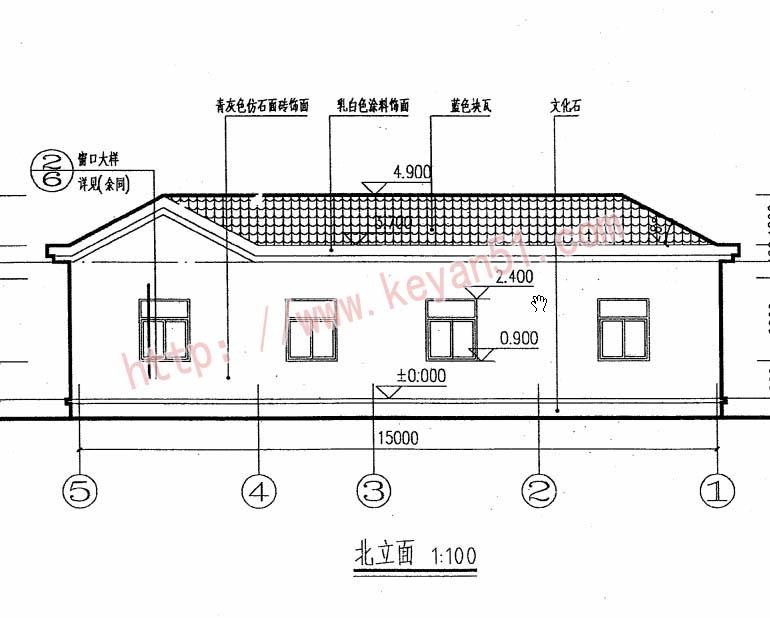 10x13米欧式三层小洋楼设计图,外观气派,典雅,高贵 - 轩鼎房屋图纸图片