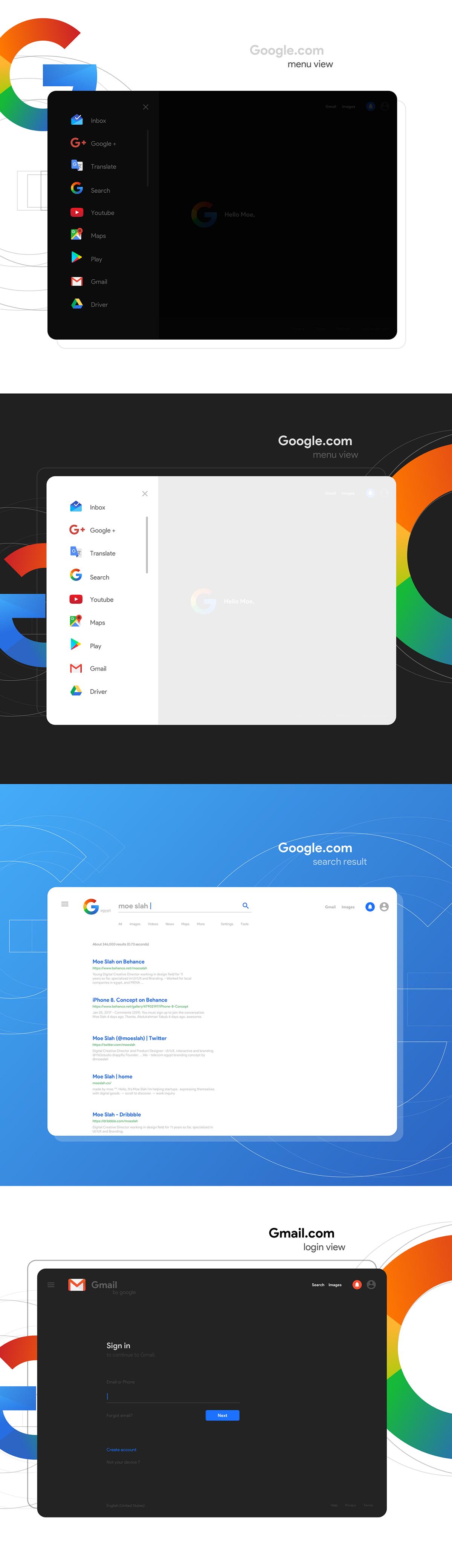 谷歌全新logo设计与UI设计