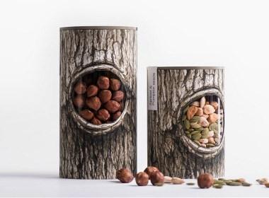 Pchak树洞灵感的坚果食品品牌包装设计