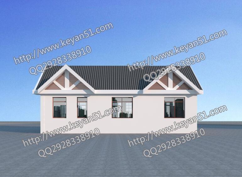 8万左右农村一层房屋设计图,更适合北方?