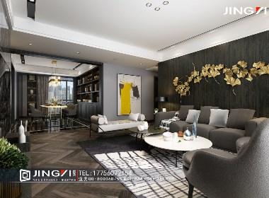景逸效果图设计——家装后现代效果图(客厅、书房篇)