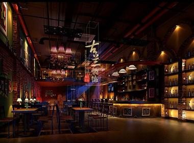 半世盛唐酒吧设计--文山酒吧装修设计公司--古兰装饰