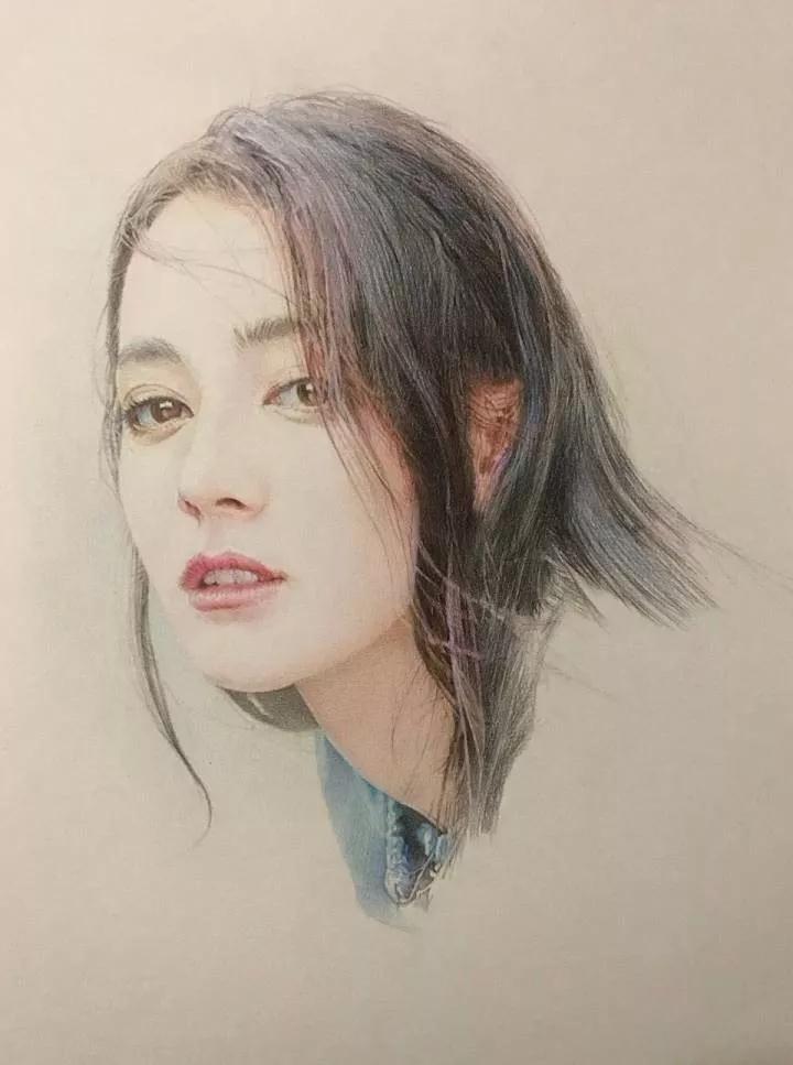 迪麗熱巴鉛筆畫圖片大全_迪麗熱巴鉛筆畫簡單點