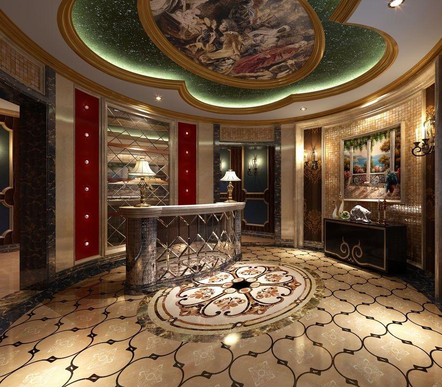 该西餐厅是欧式线性的设计风格,用色主要是白色和棕色,用色素雅.