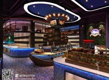 《大东海自助海鲜牛排餐厅设计》-成都海鲜餐厅设计|成都专业海鲜餐厅设计公司