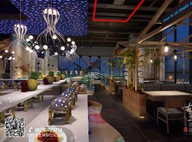 《七福徕海鲜自助餐厅设计》-成都餐厅设计|成都特色餐厅设计公司