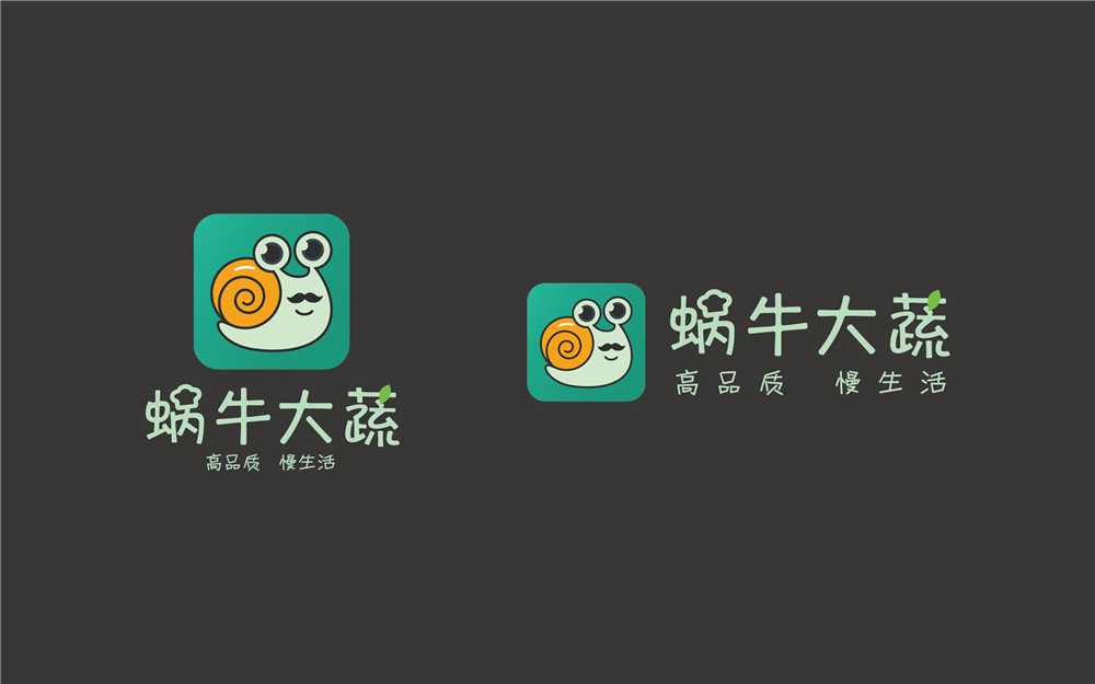 蜗牛大蔬品牌形象设计-中国设计网