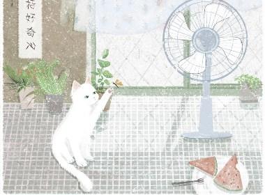 2018日历猫生日记插画本
