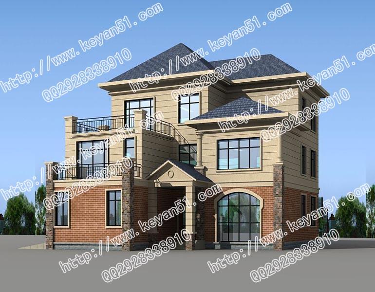 占地200m 古色古香三层农村住宅设计图15x16