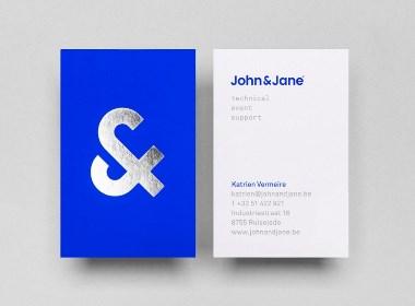 John & Jane团队品牌蓝色系VI视觉设计