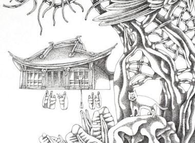 钢笔画【常州崇法寺】
